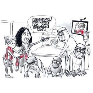 Attēls: Gatis Šļūka (@KarikaturaLV)
